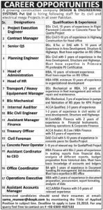 Sunday Jobs Civilengineerspk 10-6-2018