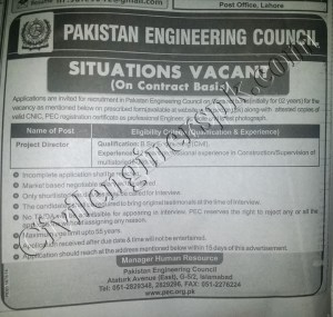 Sunday Jobs Civilengineerspk 14-10-2018