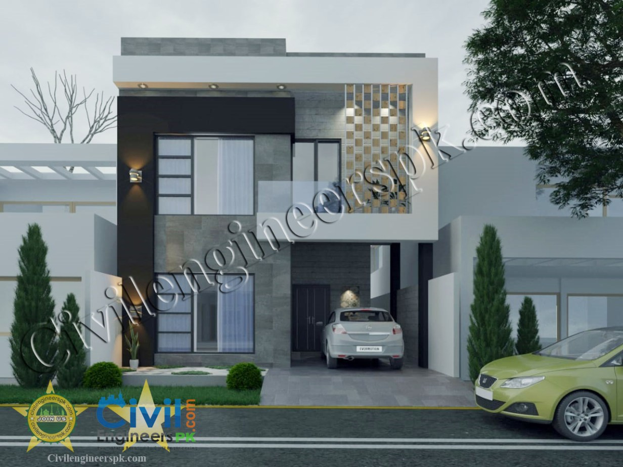 New 5 marla house plan in dha