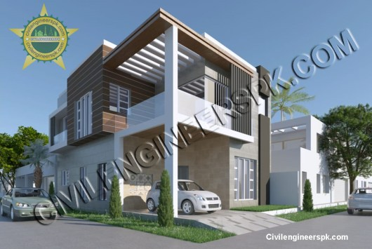 New 6 Marla Corner House Design