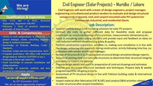 Civil Engineer Solar Projects