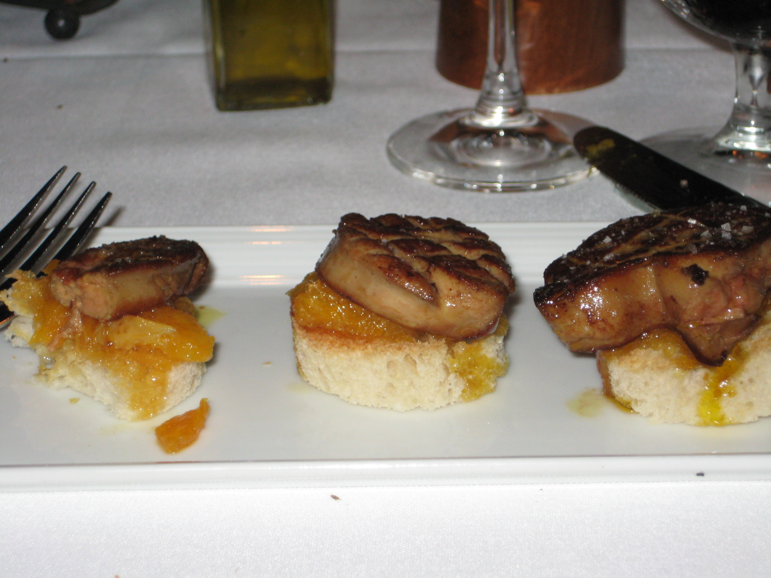 Foie Gras Crostini with Oranges - deeeeelish