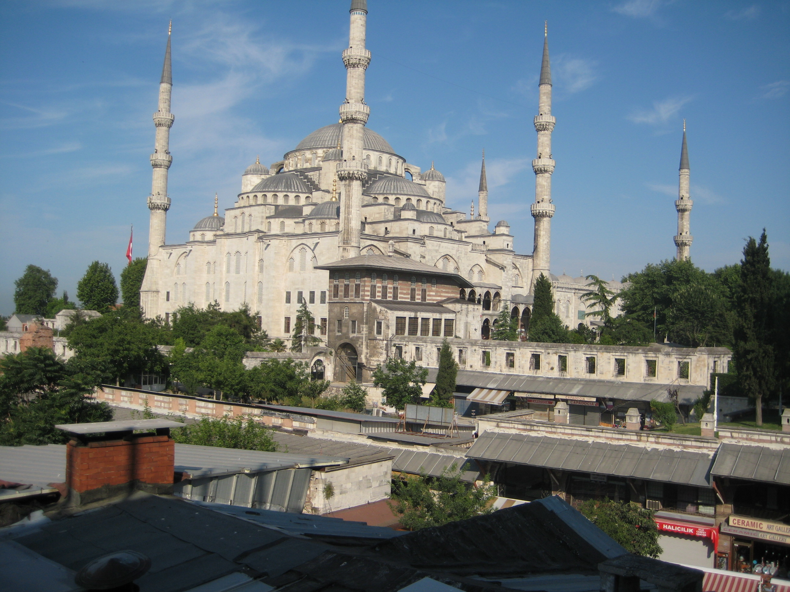 The Blue Mosque is less than 1 block away.