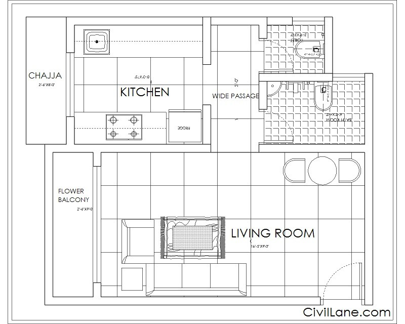 1RK TO 1BHK BUDGET RENOVATION EXISTING LAYOUT