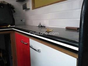 Black granite kitchen countertop material