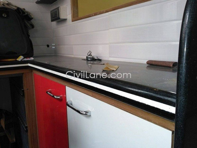 Black granite kitchen countertop material