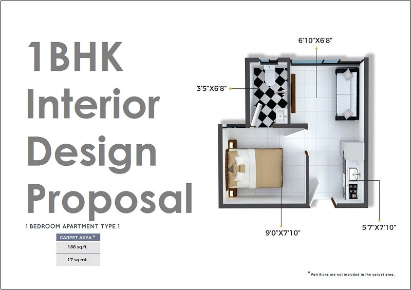 Crystal Xrbia Chembur Central Mumbai 1BHK Interior Design Proposal