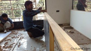 Custom made carpentry furniture door making