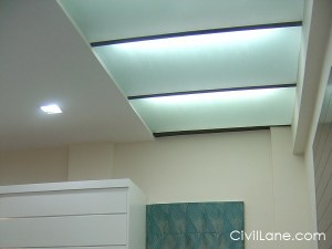 Glass bathroom false ceiling material alternative