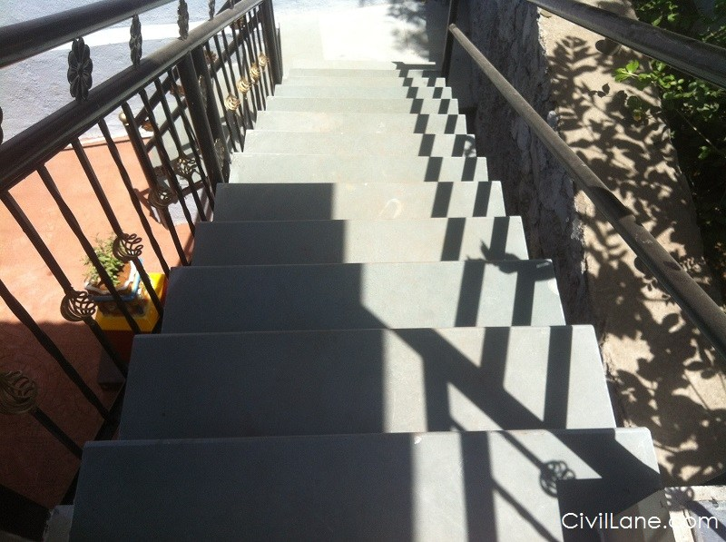 Kota stone used in staircase area