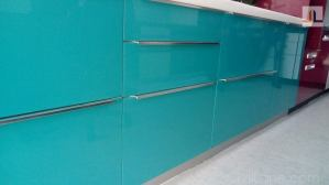 Kitchen shutter slim handles