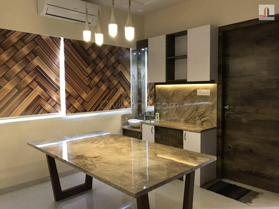 TV Unit Design For Duplex House Mumbai