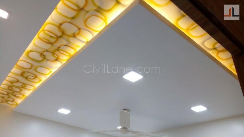 Acrylic And Gypsum False Ceiling Design