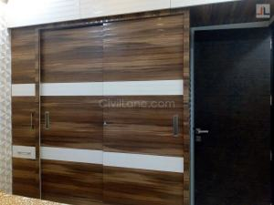 Custom Made Sliding Wardrobe Laminate Finish Goregaon Mumbai
