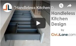 Handleless Kitchen Design by CivilLane