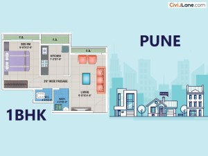 1 BHK Interior Design Cost In Pune
