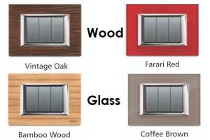Electrical Designer Switches Material Options