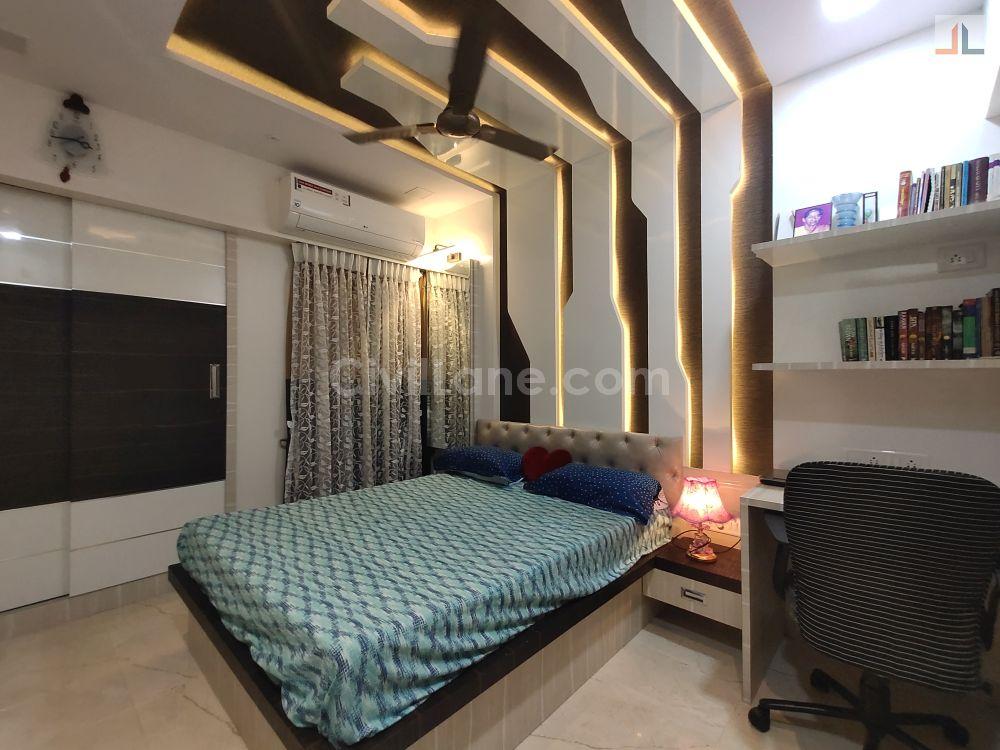 Kidsroom Bed Design with Panelling Thane Mumbai Furniture