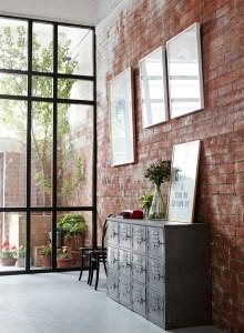 Red brick wall highlighter design ideas