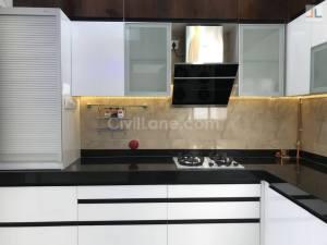 L-Shaped Modular Kitchen Design Aundh Ravet BRTS Road Pune