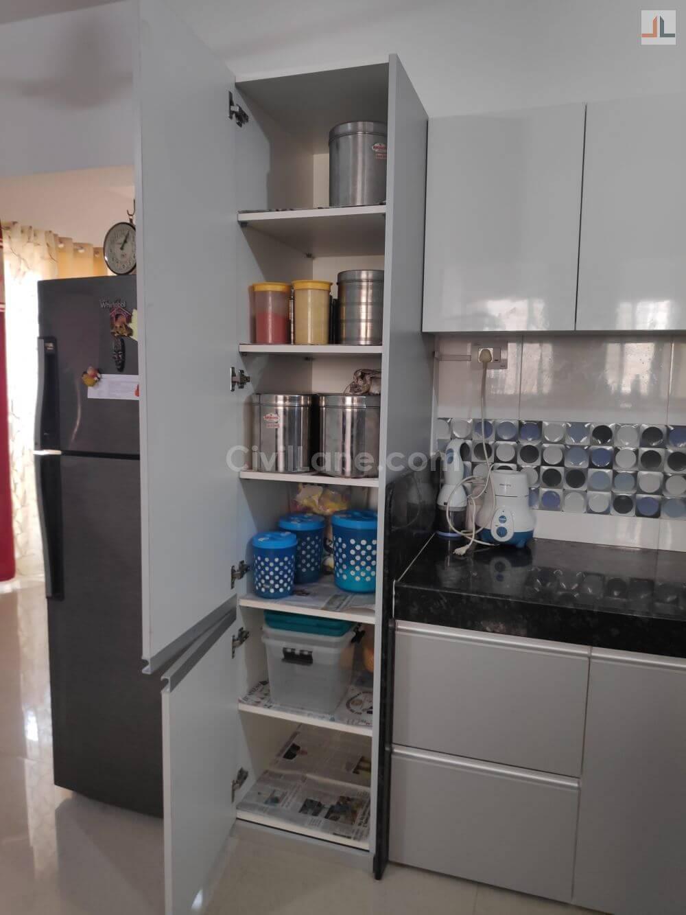 Pebble Grey Laminate Finish Modular Kitchen Design Handewadi Pune ...