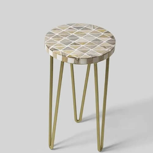 An accent table with hairpin legs