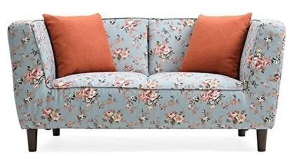 Flower printed sofa two seater