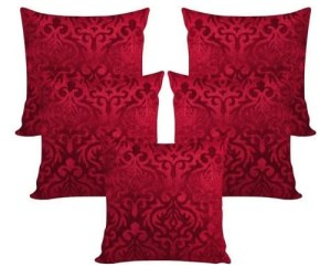 Maroon velvet cushion set