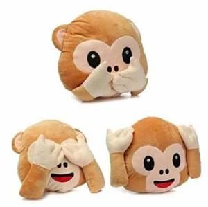 Monkey emojis pillow