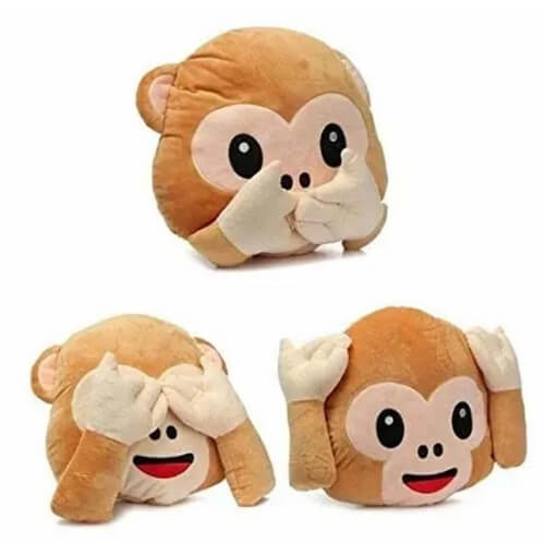 Monkey emojis pillow