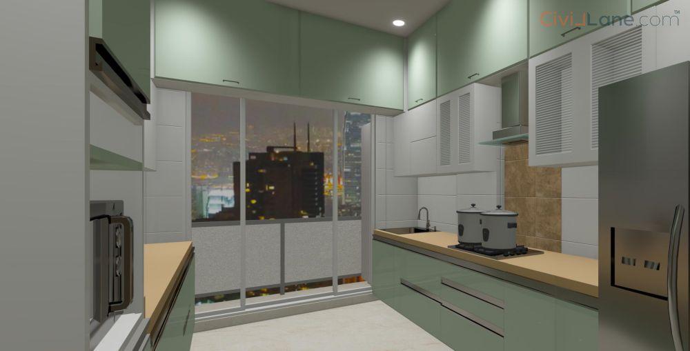 3D Kitchen Interior Design Pune