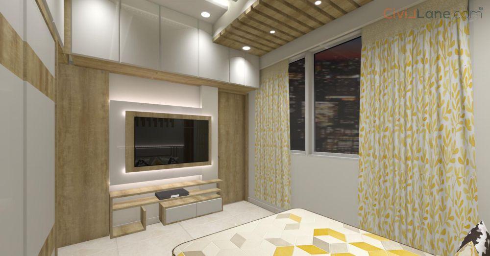 3D Bedroom Interior Design Pune
