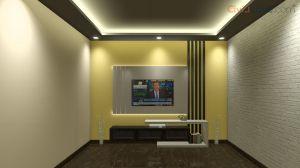 TV Unit Design 8 Feet 10182-1