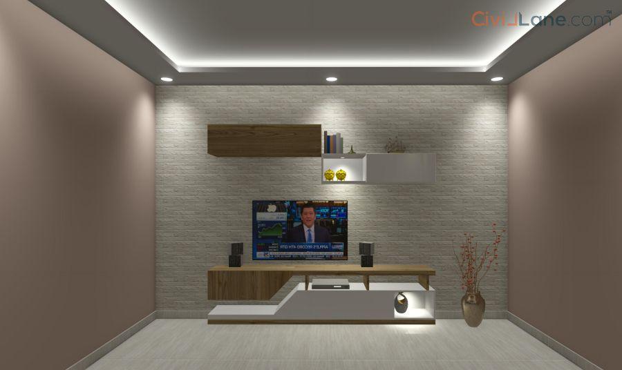 TV Unit Design 8 Feet 14586SF-1