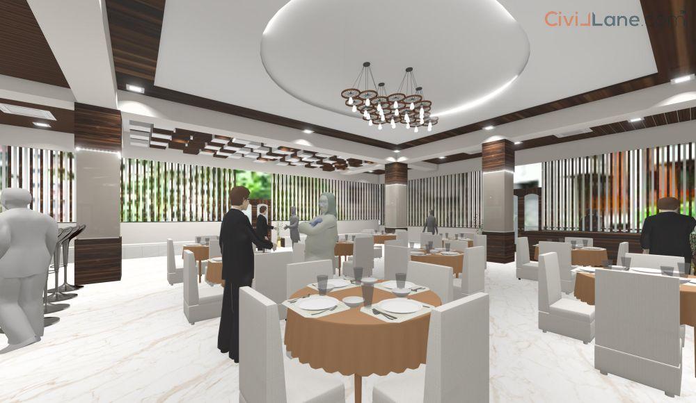 Banquet Hall 3D Interior Design