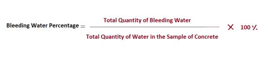 Method of Test For Bleeding of Concrete
