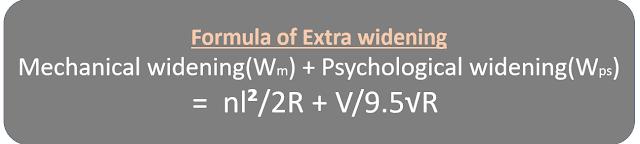 Formula of Extra widening