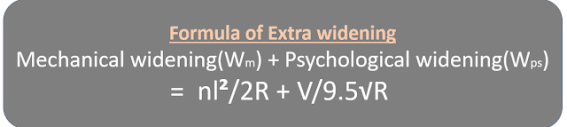 Formula of Extra widening