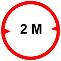 "Symbol image of ""Width limit"" sign"