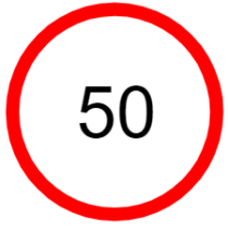 "Symbol image of ""Speed Limit"" sign"