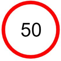"Symbol image of ""Speed Limit"" sign"