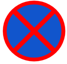 "Symbol image of ""No Stopping or Standing"" sign"