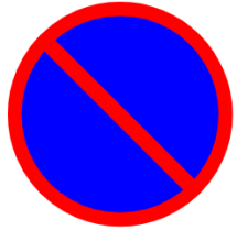 "Symbol image of ""No Parking"" sign"