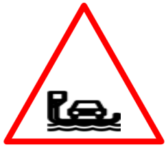 "Cautionary or Warning road  Signs or traffic signs - Ferry || symbolic image of ""Ferry"" Sign"