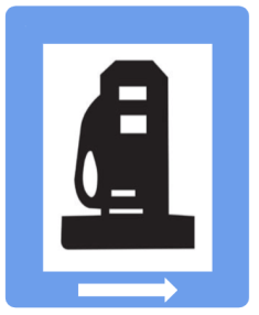 "Informatory Road Signs - Petrol Pump || Symbolic image of ""Petrol Pump"" sign ||"