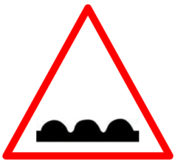 "Symbolic image of ""Rumble Strip"" sign"