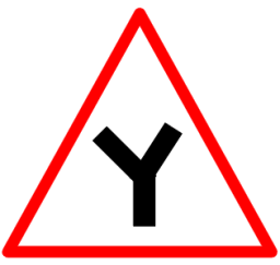 "Symbolic image of ""Y-Intersection"" sign"