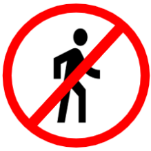 "Symbol image of ""Pedestrian Prohibited"" sign"