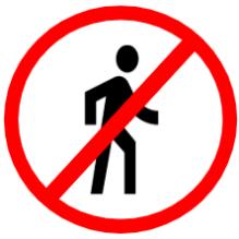 "Symbol image of ""Pedestrian Prohibited"" sign"
