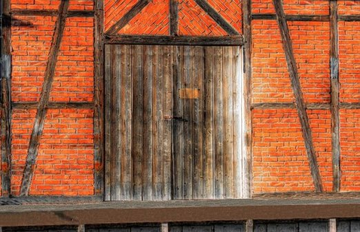 Partition Wall - Brick-nogged partition